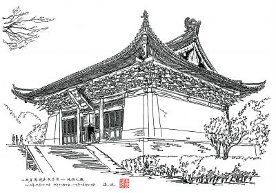 千张手绘图记录古建筑