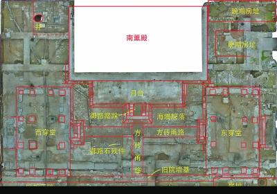 南薰殿明清建筑遗址考古复原平面图