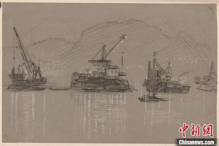 1961年赴敦煌莫高窟考察,临摹敦煌壁画.